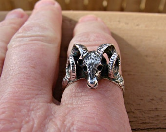 Big Horn Sheep - Sterling Silver Ring