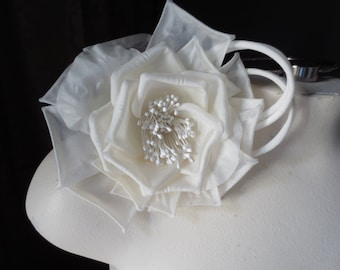 Ivory Rose Silk Flower Millinery for Bridal,  Sashes, Ring Bearer Pillows, Corsages MF 133