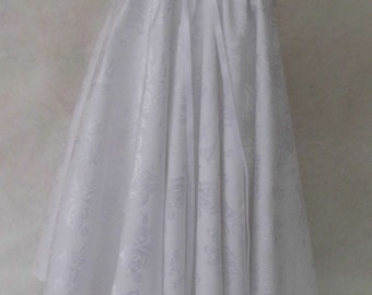 Cotton Brocade Baptism, Christening Gown