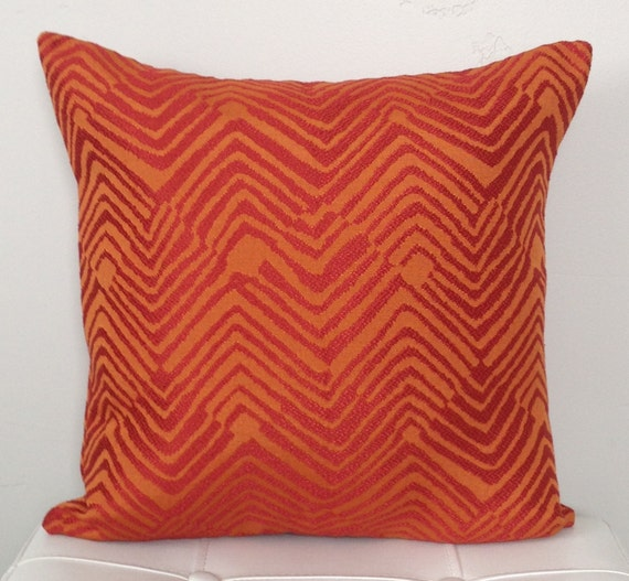 Throw Pillows In Clearance : CLEARANCE SALE Orange Decorative Pillow Cover by TwigandIris