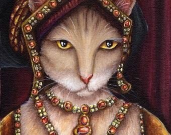 Cat Art, Jane Seymour, Henry VIII Queen Tudors 8x10 Art Print