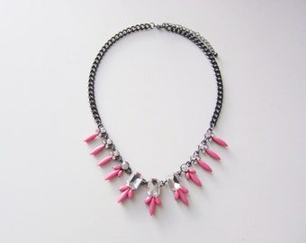 CLEARANCE: Petite Pink Crystal Statement Necklace