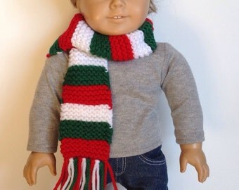 Christmas Stripes Scarf for Doll or Baby