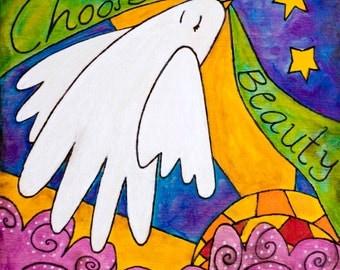 Choose Beauty White Dove Adoption Gifts Adoption Art