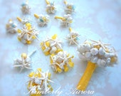 Beach Wedding Corsage of Shells (Pencil Starfish Style). Made to Order Custom Details