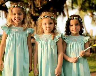 Flower Girl Wreath hair crown Robin egg blue Halo Wedding Bridal accessories Aqua turquoise floral Destination Mommy and Me couronne fleur