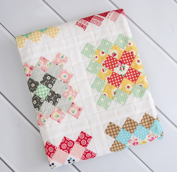 Modern Granny Square Quilt  for Baby and Toddler
