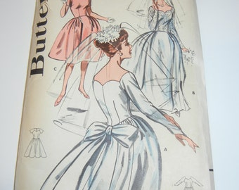 RARE Butterick 9736 pattern complete Wedding prom dress 32 bust