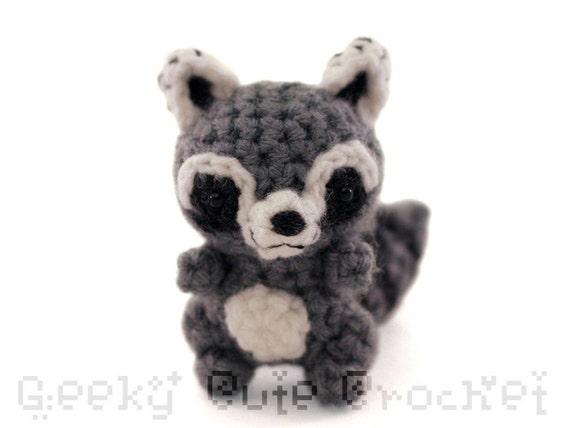 Amigurumi Raccoon : Raccoon Amigurumi Crocheted Plush Toy Kawaii Coon Animal