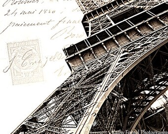 Eiffel Tower Print, Paris Photography, Eiffel Tower Architecture, Eiffel Tower Neutral Wall Art Print, Paris Eiffel Tower Wall Art Prints,