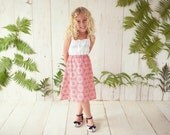 The 'Camellia' Girl's Sun Dress with Gingham and Ruffles on Bodice   - Baby, Toddler or Youth Dress Handmade  Clothing by bitty bambu
