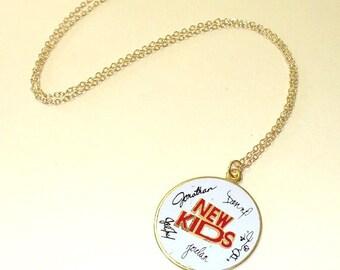 Vintage NKOTB New Kids On The Block Signature Necklace Pendant