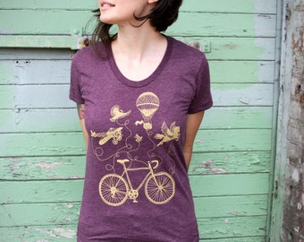 Flying Bike Tee - Women's American Apparel