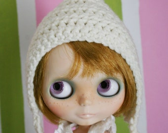 Blythe Hat Gnome Helmet - Crochet Pixie Hat for Blythe - Aran Doll Accessories Doll Hat
