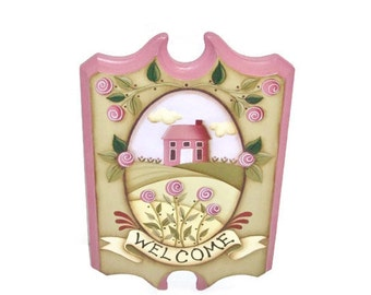 Hand Painted Spring Welcome Tavern Board Sign