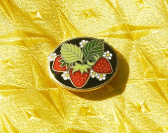 Strawberry Fields Forever Vintage Brooch/Pin