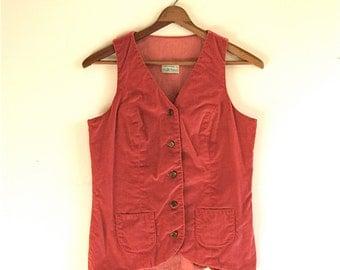 SALE / Velvet Vest with Gold Buttons // Vintage Women's Small
