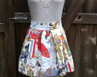 GI Joe Skirt OOAK Recycled