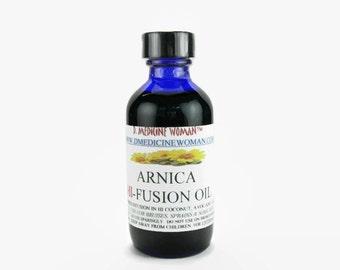 DMedicineWomans Arnica Hawaiian Fusion Oil with coconut, macadamia, kukui, avocado, aloe oils
