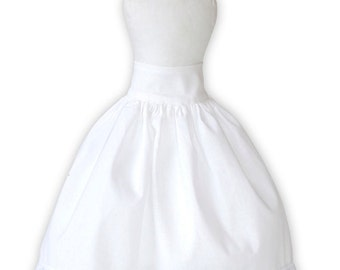 """White Petticoat for 18"""" Dolls - Hand Made by Order"""