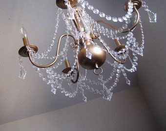 Vintage Style All Over Glam Antiqued Gold Chandelier MADE TO ORDER