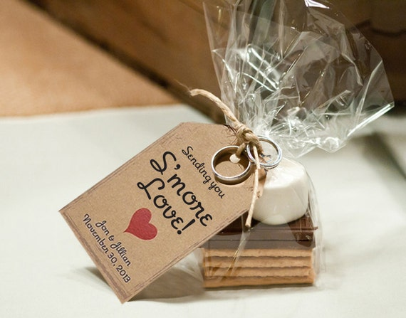 Wedding Gift Tag Maker : Tags, Rustic Wedding Favor Tags, Smore Love Rustic Wedding Favor Tag ...