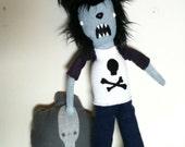 Wolfington, Werewolf, Wolfman Plush Doll