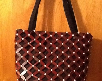 Wood and beaded hand made purses.