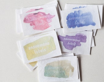 Watercolor Design Fabric Labels - personalized iron on tag