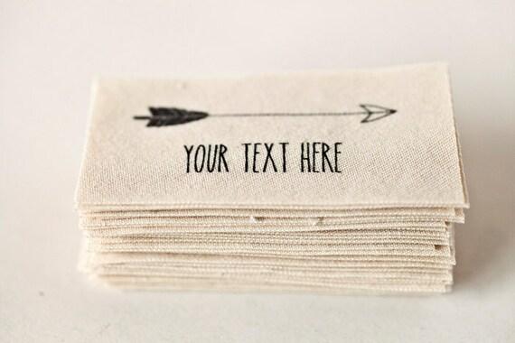 Fabuleux Étiquettes en tissu imprimé flèche couture coton bio tags PS61