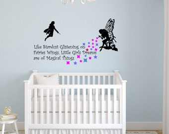 Girl's quote decal-Girls Magical Dreams sticker-Nursery decal-Vinyl wall decal-68 X 30 inches