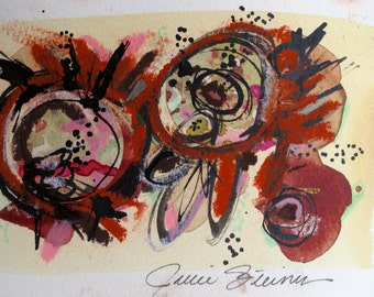 Modern Contemporary Mixed Media Abstract Painting by Julie Steiner