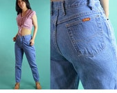 80s High Waist Jeans BONJOUR Jeans Faded Wash Vintage High Waisted Jeans Taper Leg Jeans 80s Mom Jeans Slim Fit Tapered Jeans Waist 24