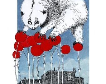 Slow Loris Print - Animal Messengers