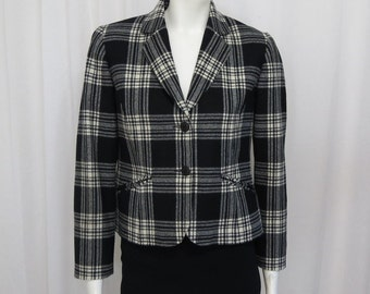 Pendleton Woolen Mill 1990's highest quality Plaid wool blazer size P 8
