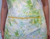 Repurposed Vintage Floral Women's Apron
