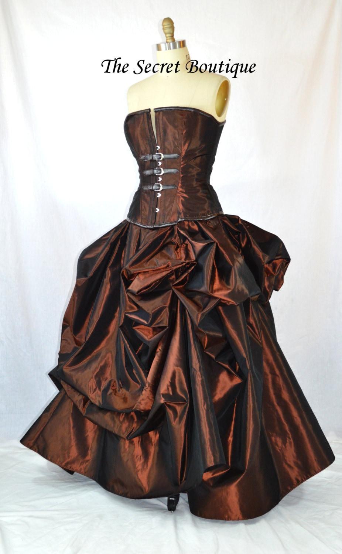 Steampunk Bustle Skirt Bridal Skirt Victorian Skirt Steampunk