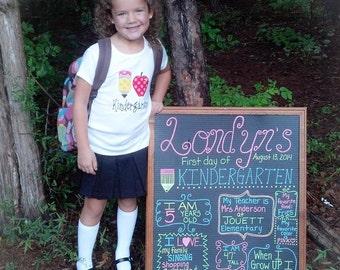Personalized I love Kindergarten Shirt Pencil Apple