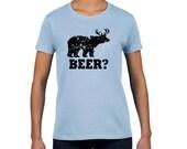 Mens Funny BEER t shirt bear deer t shirt redneck hunter Fathers Day shirt lb womens t shirt unisex
