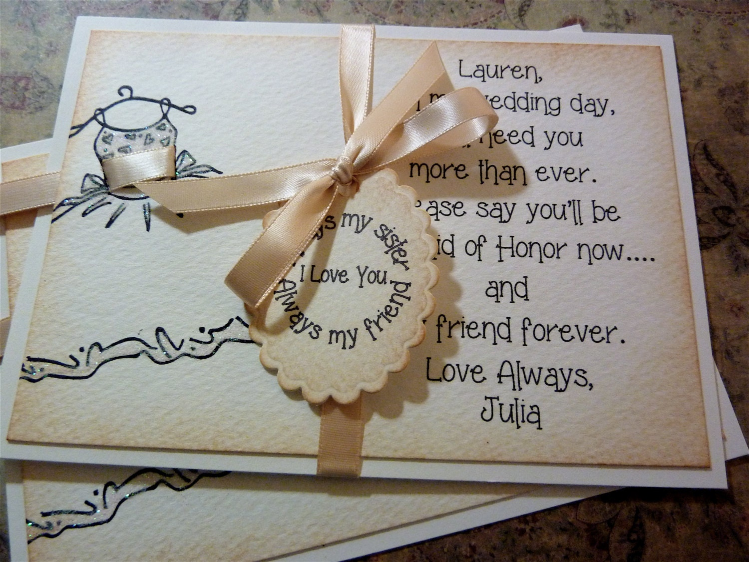 Honor Or Honour On Wedding Invitations: Be My Bridesmaid Be My Maid Of Honor Invitation Ask Sister