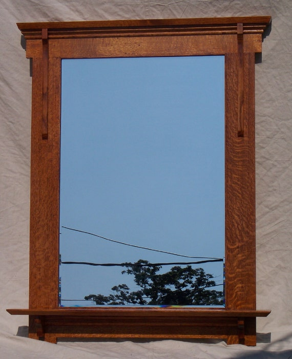 Arts And Crafts Mission Style Mirror With Shelf