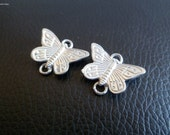 Pewter Butterfly double connector