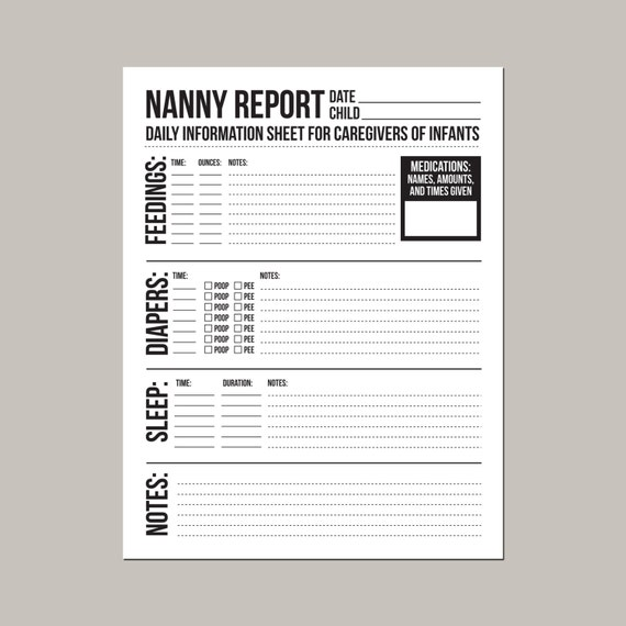 infant daily report