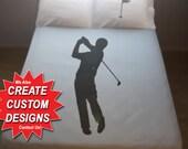 Golf Duvet Cover Golfing Bedding Golfer Gift Queen King Twin ball flag putt swing full double size cotton duvet covers sheets set