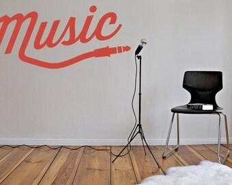 Music Art, Music Wall Art, Music Wall Decal, Gifts for Musicians, Dorm Decor, Man Cave Decor, Typography Wall Art, Music Studio Decor