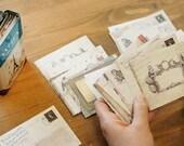 Ancien Mini Envelopes retro vintage style print refill set