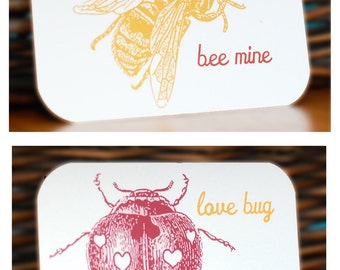 PRINTABLE, Kid Valentines Cards, School Valentines Set, DIY Cards, Valentines Day Cards, mini cards, bee, bug