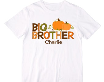 Personalized Big Brother Pumpkins Shirt or Bodysuit - Personalized with ANY Name!