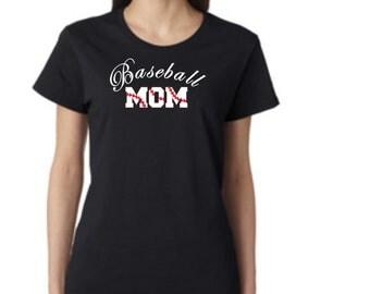 Baseball MOM - short sleeve t-shirt - free shipping  Contiguous U.S.  #224