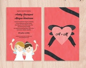 Custom Brides Lesbian Wedding Invitations - Cheers - 5x7 Flat Cards